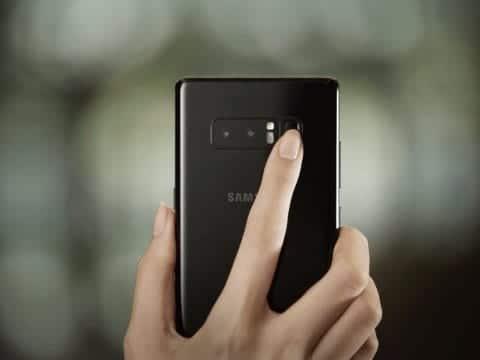 Fingeravtryckssensor på Galaxy Note 8